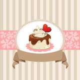 Дизайн карточки с пирожным шоколада Стоковые Фотографии RF