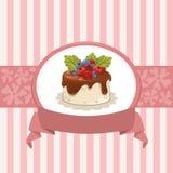 Дизайн карточки с пирожным Стоковые Фото