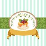 Дизайн карточки с пирожным Стоковая Фотография