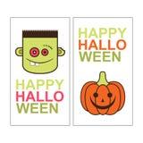 Дизайн карточки хеллоуина Вертикальное знамя с зомби Стоковое фото RF