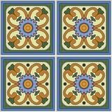 Дизайн керамической плитки картины ретро с флористическое богато украшенным Бесконечная текстура Стоковые Изображения RF