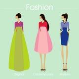 Дизайн комплекта и вектора Кореи моды иллюстрация Иллюстрация вектора