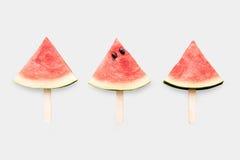 Дизайн комплекта мороженого арбуза модель-макета изолированного на задней части белизны Стоковые Фото