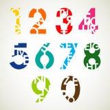 Дизайн комплектов номера Стоковое Изображение RF