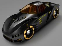 Дизайн концепции автомобиля города в футуристическом стиле иллюстрация 3d Иллюстрация вектора
