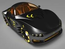 Дизайн концепции автомобиля города в футуристическом стиле иллюстрация 3d Иллюстрация штока