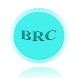 Дизайн концепции значка BRC или изображения символа с бизнес-леди для Стоковые Изображения RF