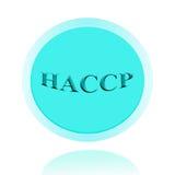 Дизайн концепции значка HACCP или изображения символа с бизнес-леди fo Стоковое Фото