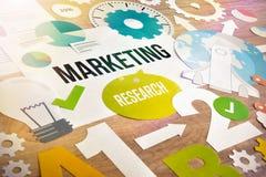 Дизайн концепции исследований в области маркетинга стоковое фото rf