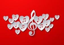 Дизайн концепции музыки влюбленности Стоковая Фотография