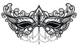 Дизайн концепции с маской масленицы Стоковые Фото
