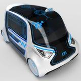Дизайн концепции электротранспорта универсалии города иллюстрация 3d Бесплатная Иллюстрация
