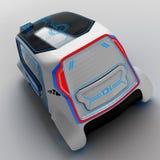 Дизайн концепции электротранспорта универсалии города иллюстрация 3d Иллюстрация вектора
