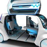 Дизайн концепции электротранспорта универсалии города иллюстрация 3d Иллюстрация штока