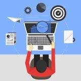 Дизайн концепции Seo, иллюстрация вектора Стоковая Фотография RF