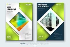 Дизайн крышки, брошюры или рогульки годового отчета корпоративного бизнеса Представление листовки Каталог с абстрактное геометрич иллюстрация вектора