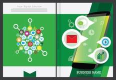 Дизайн крышки годового отчета Стоковое Изображение