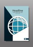 Дизайн A4 крышки глобуса сети вектор Стоковое Фото