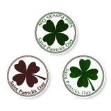 Дизайн крышки поздравительной открытки вектора дня St Patricks Стоковые Изображения RF