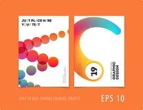 Дизайн крышки шаблона брошюры мягкой Красочный современный комплект конспекта, годовой отчет с формами для клеймить стоковые изображения rf