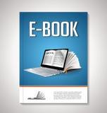 Дизайн крышки EBook Стоковые Изображения RF