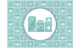 Дизайн кухонных приборов плоский Стоковые Фотографии RF