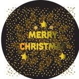 Дизайн литерности с Рождеством Христовым золота блестящий также вектор иллюстрации притяжки corel _ иллюстрация вектора