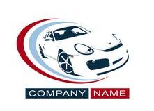 Дизайн логотипа автомобиля Творческий значок иллюстрации вектора также вектор иллюстрации притяжки corel Стоковое Фото