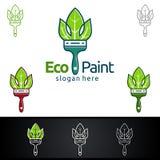 Дизайн логотипа вектора картины Eco Стоковые Изображения RF