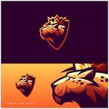 Дизайн логотипа гепарда готовый для использования иллюстрация вектора