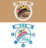 Дизайн логотипа метода езды стоковые изображения