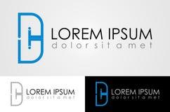 Дизайн логотипа письма d стоковое фото