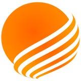 Дизайн логотипа Солнця Стоковые Изображения RF