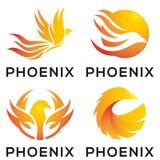 Дизайн логотипа талисмана орла Феникса иллюстрация вектора