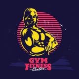 Дизайн логотипа шаблона фитнеса СПОРТЗАЛА современный профессиональный иллюстрация вектора