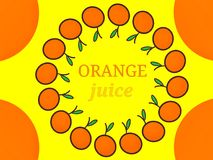 Дизайн логотипа ярлыка апельсинового сока Стоковое Изображение RF