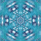 Дизайн мандалы голубого неба мира Kaleidoscopic Стоковое Изображение