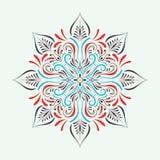 Дизайн мандалы круга вектора Стоковое Фото