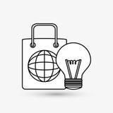 Дизайн маркетинга цифров интернет принципиальной схемы цвета предпосылки голубой Значок стратегии Стоковое Изображение