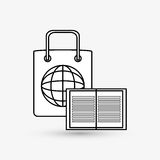 Дизайн маркетинга цифров интернет принципиальной схемы цвета предпосылки голубой Значок стратегии Стоковое Фото
