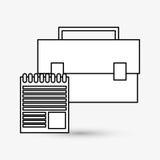 Дизайн маркетинга цифров интернет принципиальной схемы цвета предпосылки голубой Значок стратегии Стоковые Изображения