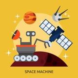 Дизайн машины космоса схематический иллюстрация вектора