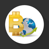 Дизайн международной экономики Значок денег изолированная иллюстрация руки кнопки нажимающ женщину старта s Стоковые Фото