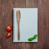 Дизайн меню еды предпосылки и еды Предпосылка тетради для Стоковые Изображения RF