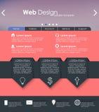 Дизайн меню для вебсайта Стоковые Изображения RF