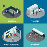 Дизайн метро равновеликий иллюстрация штока