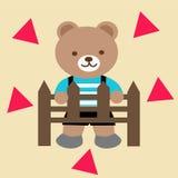Дизайн медведя иллюстрация вектора