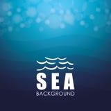 Дизайн моря background card congratulation invitation Красочная иллюстрация, вектор Стоковое фото RF