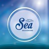 Дизайн моря background card congratulation invitation Красочная иллюстрация, вектор Стоковое Изображение