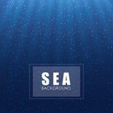 Дизайн моря background card congratulation invitation Красочная иллюстрация, вектор Стоковые Фото